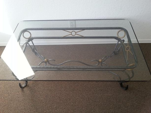 cast iron look and thick glass coffee table,liooks antique central