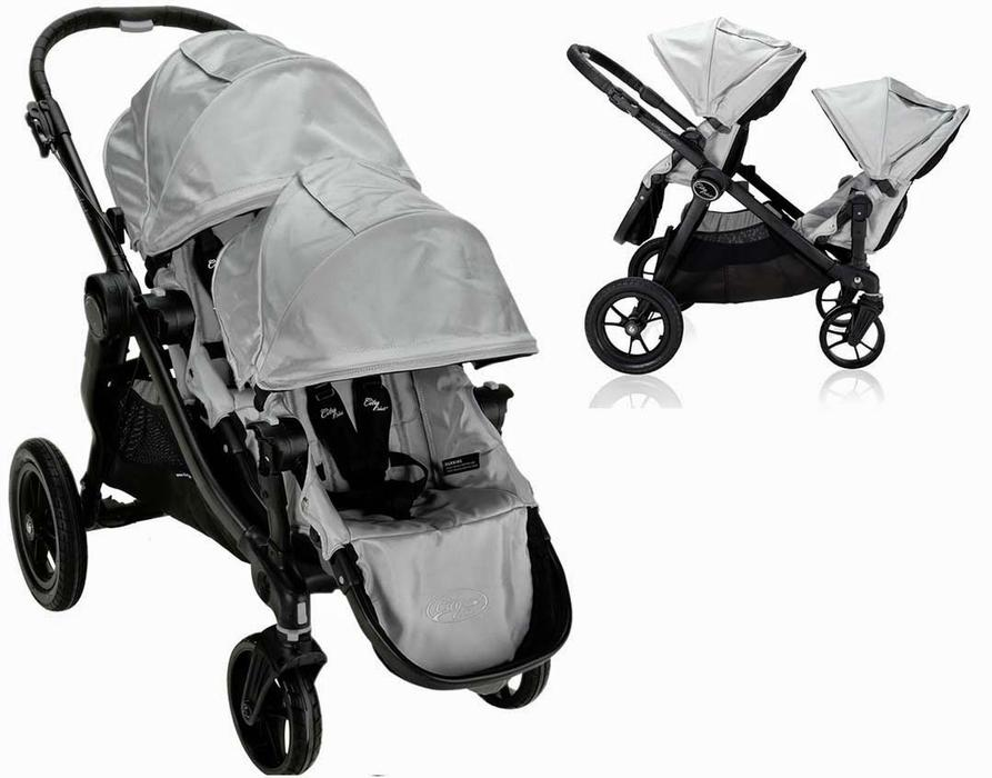 2014 Baby Jogger City Select Seat Black Silver W Xtras