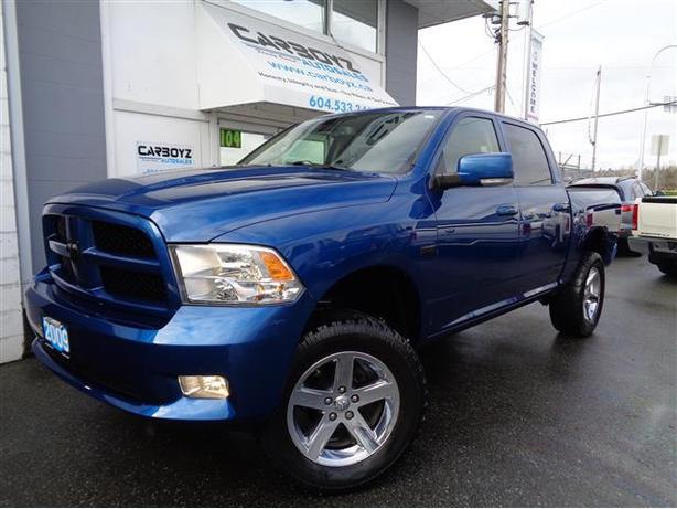 2009 dodge ram 1500 sport crew 4x4 lifted 35 inch tires local truck outside victoria victoria. Black Bedroom Furniture Sets. Home Design Ideas