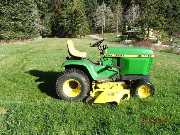 John Deere 400 Garden Tractor Attachments : John deere garden tractor outside victoria