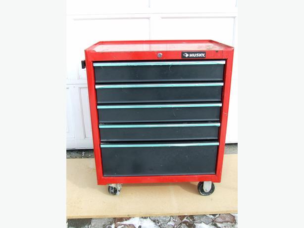 husky 5 drawer cabinet tool chest used central ottawa inside greenbelt ottawa mobile. Black Bedroom Furniture Sets. Home Design Ideas