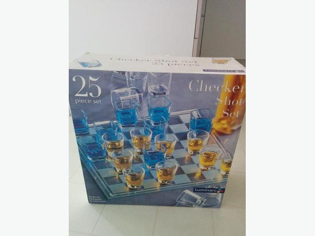 Brand New Shot Glass Checker Set