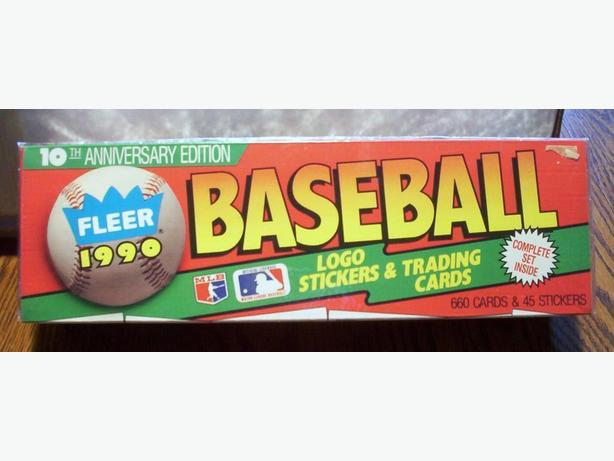 FLEER 1990 10TH ANNIVERSARY BASEBALL CARD SET (660 cards + 45 stickers)