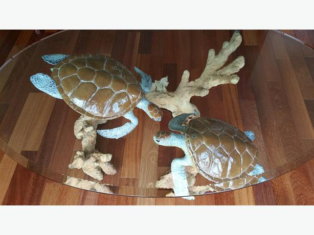 Wyland Turtle Reef Coffee Table   Solid Bronze