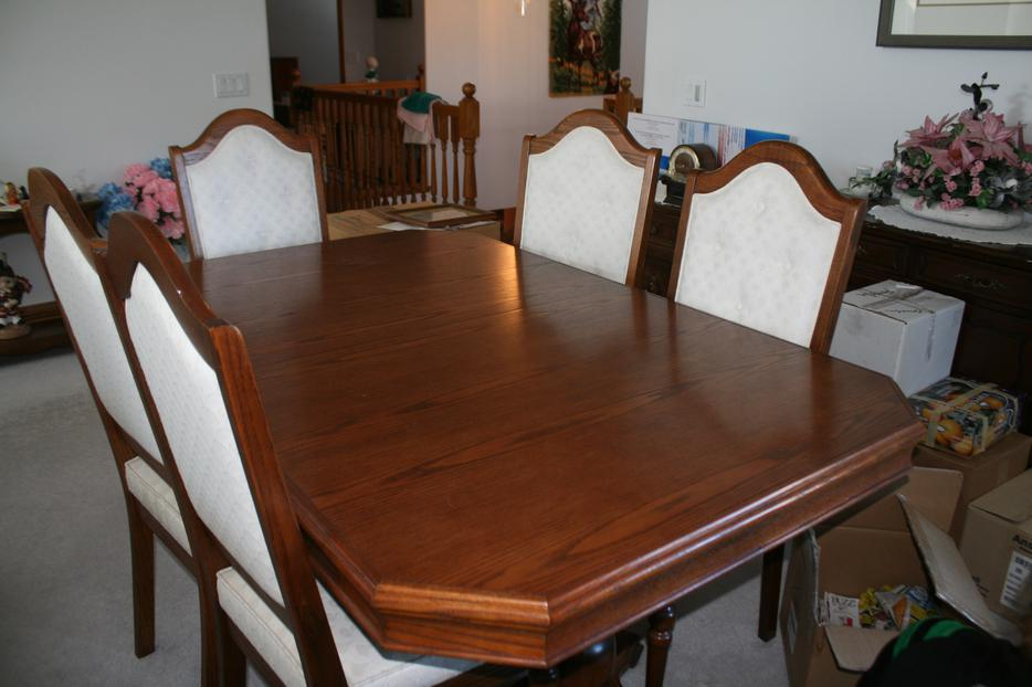 Magnificant Dining room table 6 chairs and china cabinet  : 45329131934 from www.usedregina.com size 934 x 622 jpeg 62kB