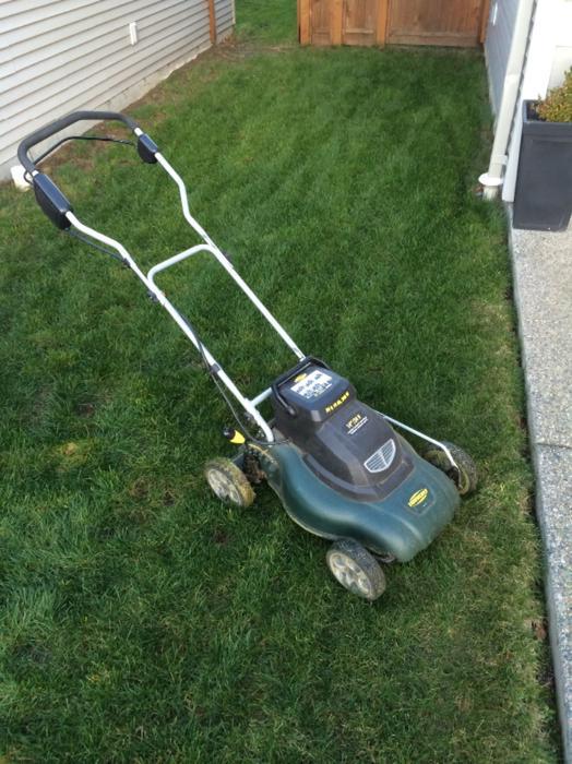 Bartery Powered Lawn Mower Outside Nanaimo Nanaimo Mobile