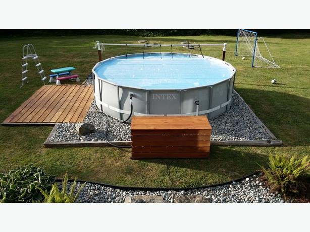 16ft Intex Ultra Frame Saltwater Pool Many Upgrades North
