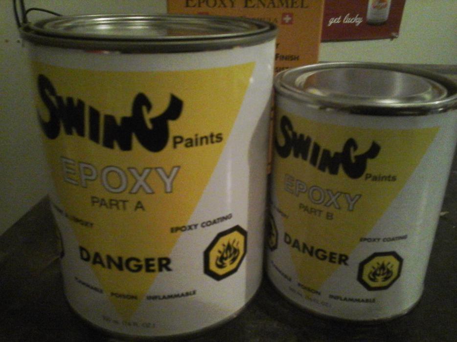 Two Part Epoxy Bathroom Sink Tub Appliance Paint Cobble
