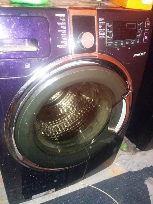 3 Years Old Purple Kenmore Elite Front Loading Washer And