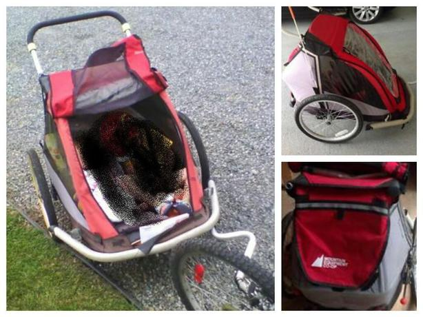 Obo Mec Double Bike Trailer Jogging Stroller South Nanaimo Nanaimo