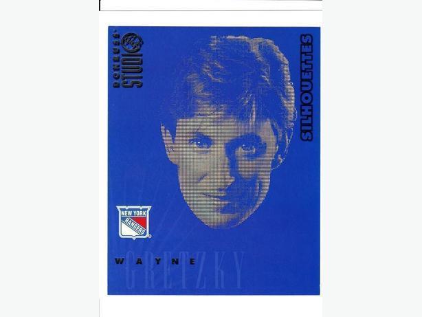 """DONRUSS STUDIO 97/98 - WAYNE GRETZKY 8""""X10"""" SILHOUETTE - (0236 of 3000)"""