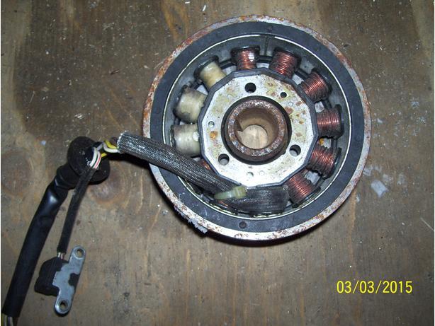 Yamaha SX700 stator flywheel magneto rotor