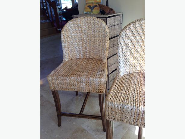 Counter Height Wicker Chairs : Banana Leaf Rattan Chairs Counter Height Courtenay, Campbell River