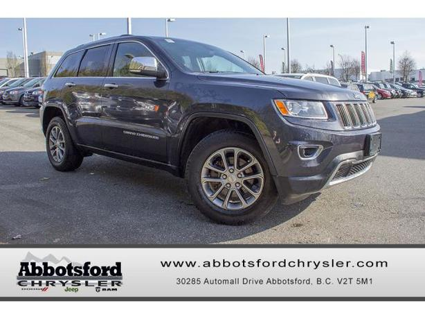 2014 jeep grand cherokee limited w power lift gate memory mirrors outside metro vancouver. Black Bedroom Furniture Sets. Home Design Ideas
