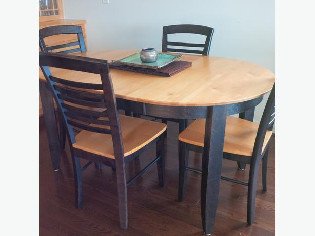 Solid canadian made maple dining set west vancouver