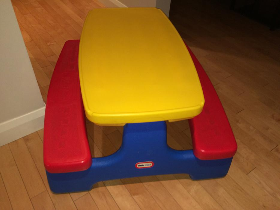 Little Tikes Easy Store Picnic Table Central Ottawa