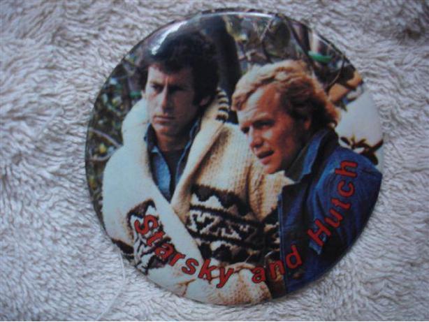 Vintage Starsky & Hutch Pinback Button 1970's TV Show-Groovy!