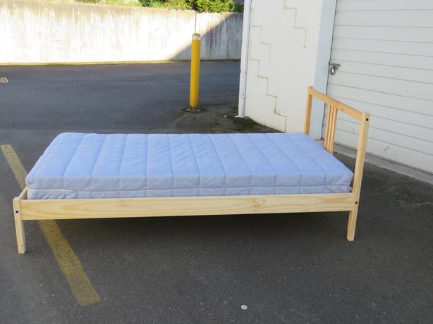 Ikea Twin Fjellse Bed Frame And Mattress Central Saanich