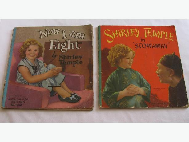1937 Shirley Temple Softcover Books Now I Am Eight & Stowaway Mixed Lot of 2