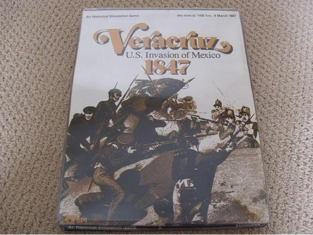 Veracruz US Invasion of Mexico 1847 Board Game SPI Complete