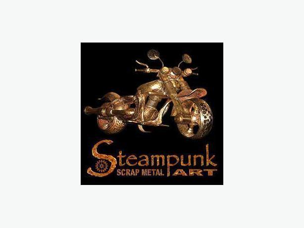 Steampunk Scrap Metal Art