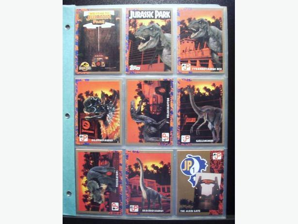 JURASSIC PARK CARDS 1993 - TOPPS (88 cards + 11 stickers)