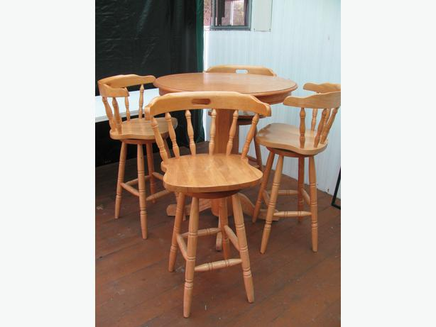 bar style kitchen table and swivel chairs port alberni