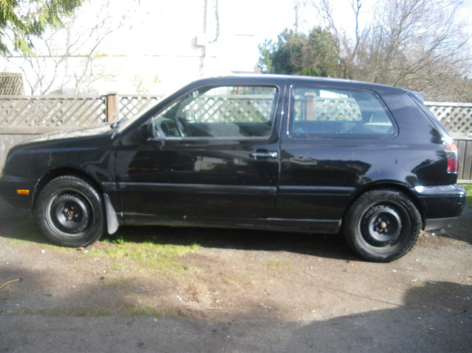 Black 1998 Vw Golf City 5 Speed Hatchback South Nanaimo