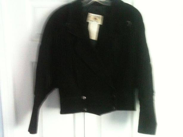 Suede Jacket with Tassels