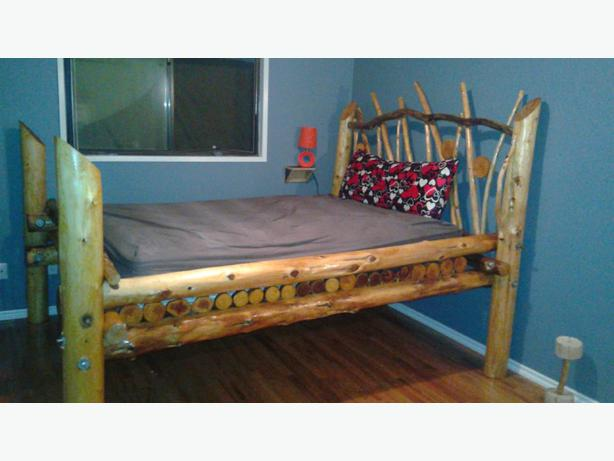 One of a kind driftwood bed frame outside victoria victoria for One of a kind beds