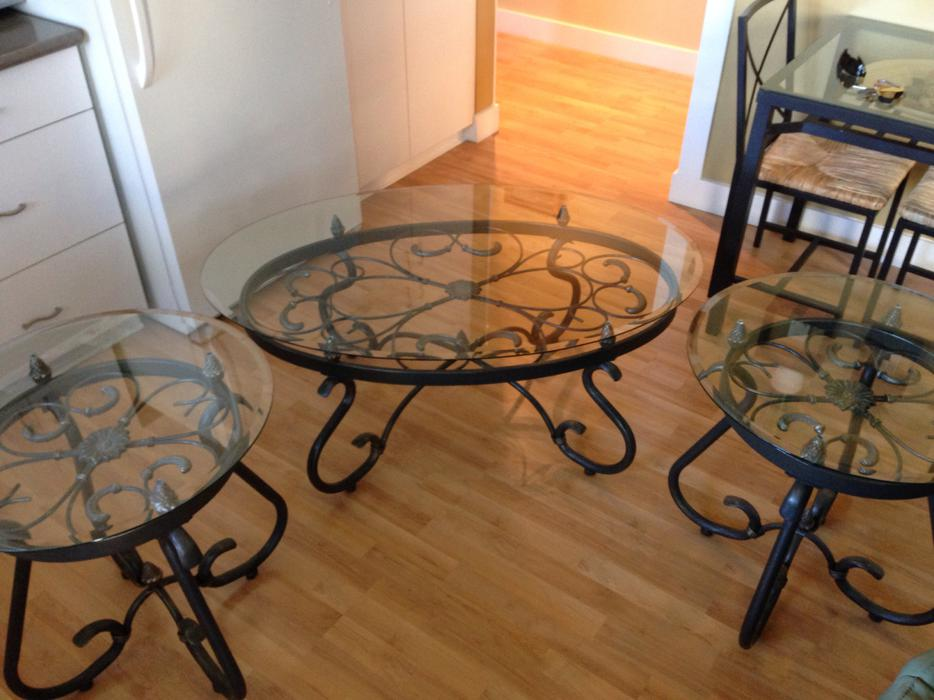 Glass Coffee Table End Tables Esquimalt View Royal Victoria