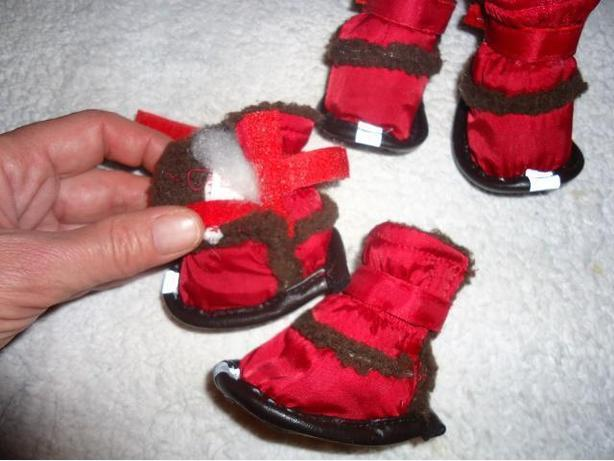 Winter Dog Boots (Small Sz) - Red and Black - Brand New - SOLD