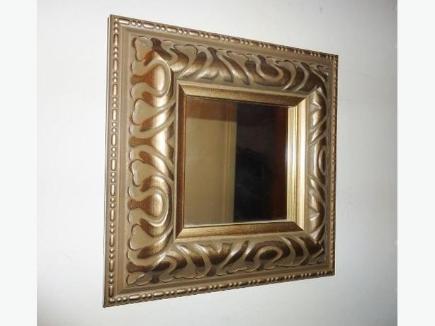 Beautiful Small Square Wall Mirror - Metallic Pewter - Like new
