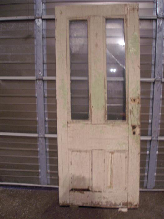 Antique exterior two window raised panel wood door central ottawa inside greenbelt ottawa for Exterior doors ottawa