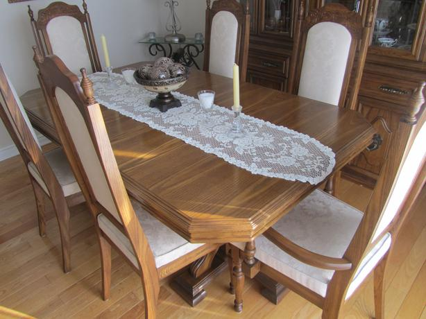 Solid Oak Dining Room Set By Arcese Brothers Orleans, Ottawa
