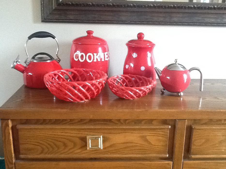 Red kitchen accessories saanich victoria - Red kitchen decor accessories ...
