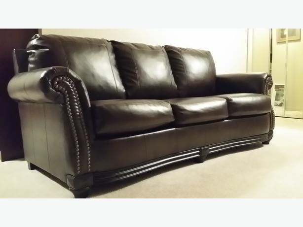 Collingwood Place Sofa Durablend Leather Central Nanaimo Parksville Qualicum Beach