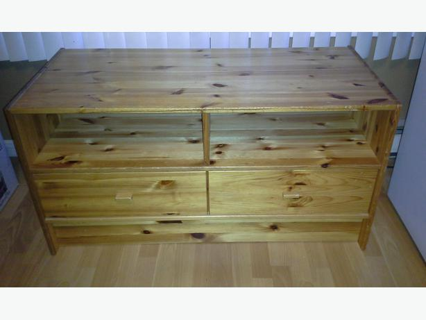 ikea solid pine tv stand