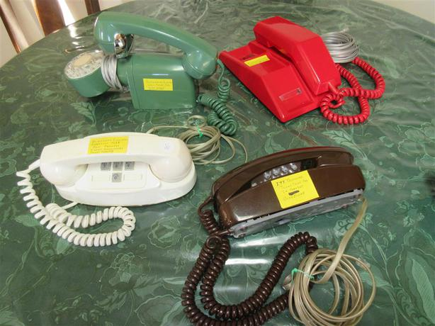 COLLECTION OF OLD PHONES FROM GRAMP'S ESTATE