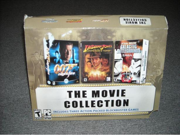 Movie Collection Starwars, Galactic Battlegrounds,Indiana Jones Video Game