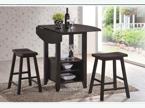 Jysk KOGE Dining Set 4 Chairs Stools 1 Table Espresso Wood