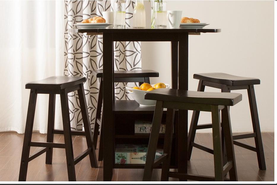 Jysk KOGE Dining Set 4 chairs stools 1 table espresso wood  : 45556317934 from www.usedregina.com size 934 x 625 jpeg 72kB