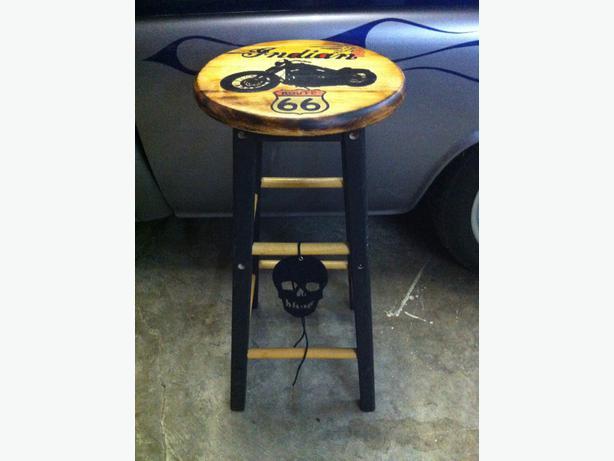 Man Cave Bar Stools : Man cave bar stools custom painted saanich victoria
