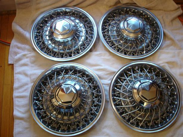 Set Of 4 Oem 1988 Chrysler Fifth Avenue Chrome Wire Spoke