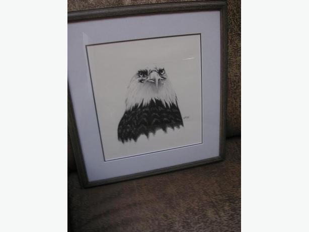 REDUCED/  ORIGINAL EAGLE GRAPHITE DRAWING