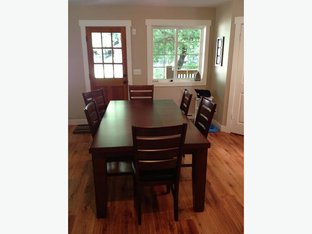 Dining room table malahat including shawnigan lake mill bay victoria - All wood dining room table ...