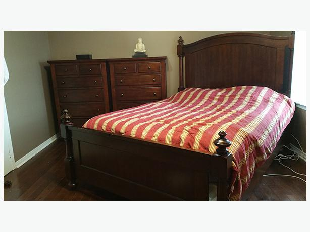 log in needed 850 classic cherry wood mahogany bedroom set