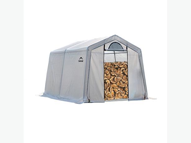 ShelterLogic -Firewood Seasoning Shed 10' x 10' x 8' -Westcoast Custom Gates Ltd