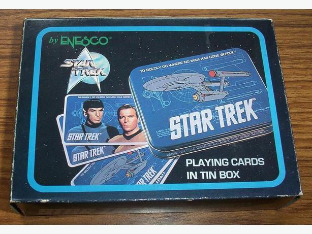 STAR TREK CLASSIC ORIGINAL SERIES PLAYING CARDS AND TIN (1992)