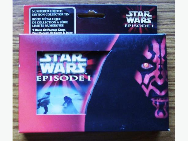 STAR WARS EPISODE 1 - LTD EDITION COLLECTOR'S TIN WITH PLAYING CARDS